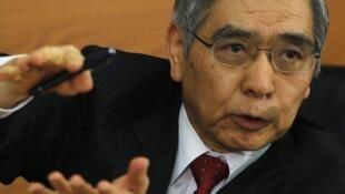 Haruhiko Kuroda, gobernador del Banco de Japón.