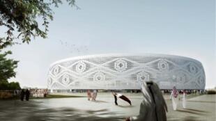 Projeto Al Thumama, com 40 mil lugares, um dos estádios previstos para sediar os jogos durante a Copa do Catar em 2022.