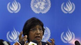 Navi Pillay, la Haut  commissaire de l'ONU pour les droits de l'homme, à Colombo, le 31 août 2013.