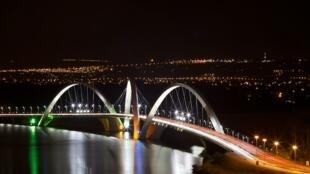 Imagem de Brasília, durante a Hora do Planeta