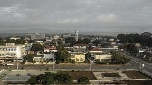 Vista geral de Nampula, Moçambique