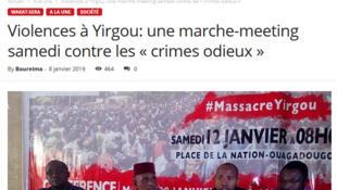 Massacre de Yirgou: la conférence de presse du Collectif contre l'impunité et la stigmatisation des communautés (CISC) a été suivie par les médias nationaux.
