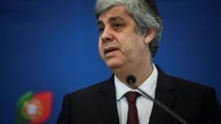 Mário Centeno, líder do Eurogrupo, e ministro português das finanças
