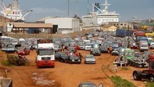 Le port de Lomé au Togo.
