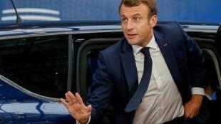 圖為法國總統馬克龍2019年10月17日於布魯塞爾