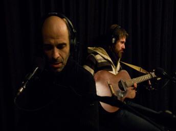 Gaspard Lanuit en studio.
