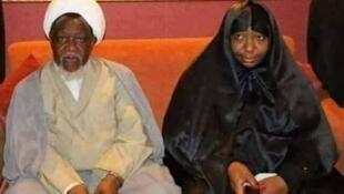 Nigerian Shi'ite spiritual leader Shezikh Ibraheem El-Zakzaky and wife wait to travel to India for medical treatment
