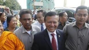 Kem Sokha, premier vice-président de la Chambre basse et vice-président du parti CNRP, en avril 2015.