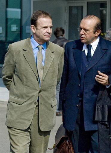 Francois-Marie Banier with his lawyer Herve Temime