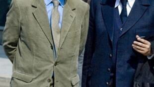 Francois-Marie Banier et son avocat Hervé Temime.