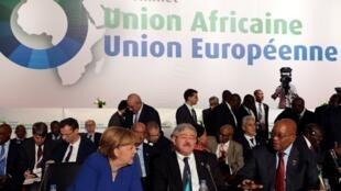 5ª Cimeira União Africana - União Europeia em Abidjan na Costa do Marfim.