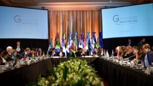 A 15ª reunião do Grupo de Lima, em Buenos Aires, nesta terça-feira (23).