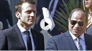 法国总统马克龙与埃及总统塞西谈及敏感的人权问题