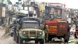 Les troupes philippines à Marawi, ce mardi 17 octobre 2017.