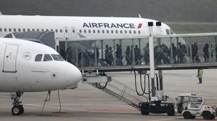 Air France-KLM planes at Paris's Charles De Gaulle airport