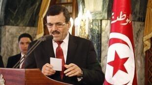 Ali Larayedh, en conférence de presse à Tunis, le 9 janvier 2014.