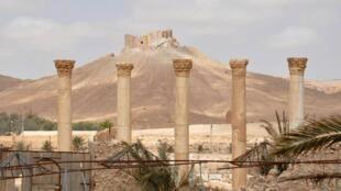 Hasumiyar Palmyra ake hangowa nesabayan da sojan Bashar Assad suka saka kwato garin