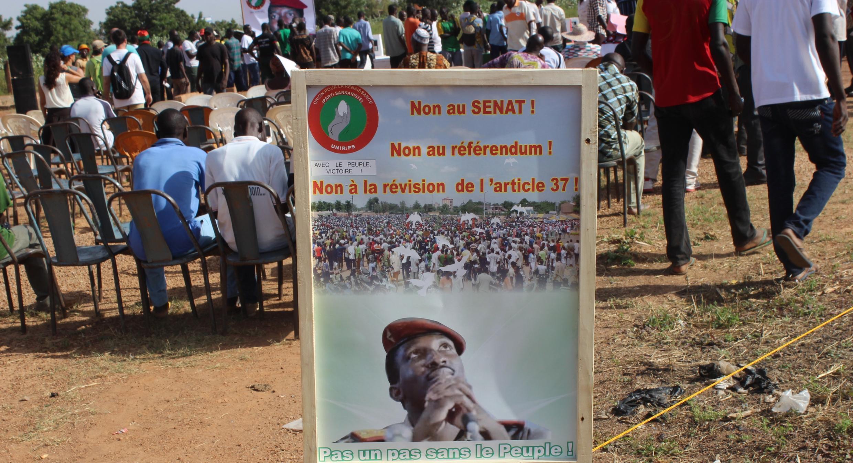 Mobilisation des opposants burkinabè contre la révision de la Constitution, le 15 octobre.