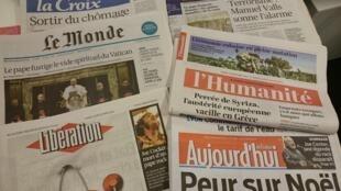 Diários franceses 23/12/2014