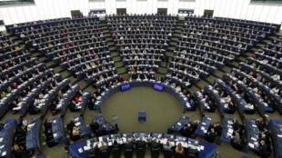 Le Parlement européen de Strasbourg, en séance plénière ce mercredi 5 avril 2017 pour acter les «lignes rouges» de l'UE face au Royaume-Uni sur le Brexit.