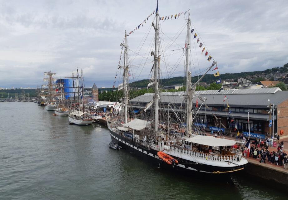 El buque escuela Belem, velero francés construido en 1896.