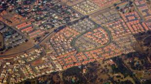 Vue aérienne de Gaborone, la capitale du Botswana.