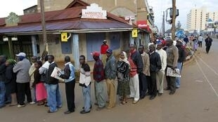 A queue to vote in the Kenyan referendum