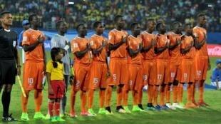 L'équipe du Niger des moins de 17 ans lors du Mondial U17 en Inde.
