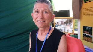 Aliette Jamart, coordonnatrice de l'association Habitat Ecologique et Liberté des Primates à Pointe-Noire (Congo).