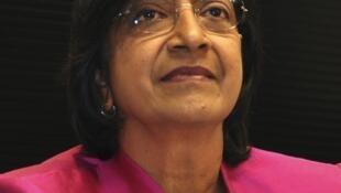 A Alta Comissária para os Direitos Humanos, Navi Pillay.