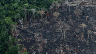 An aerial view of a tract of Amazon jungle after it was cleared by farmers in Itaituba, Para, Brazil in September 2019.