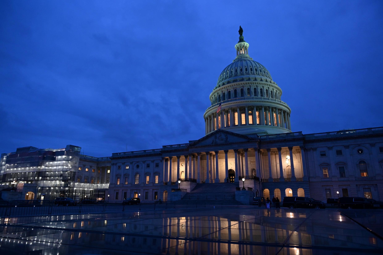 Capitol tại Washington, nơi Thượng Viện Mỹ đang tiến hành phiên xử phế truất tổng thống Mỹ. Ảnh chụp 24/01/2020.