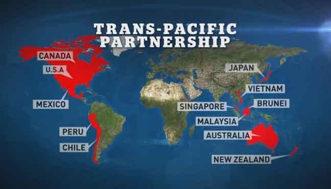 12 nước ban đầu nay TPP chỉ còn 11 thành viên sau khi Hoa Kỳ rút chân.