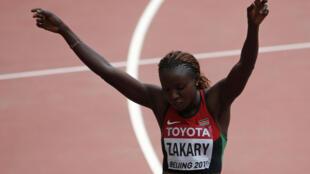 Joyce Zakary ta Kenya da ta lashe tseren gudun Mita 400 a Beijing