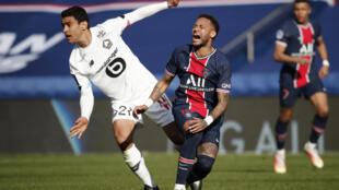 PHOTO Lille-PSG Benjamin André et Neymar - 3 avril 2021