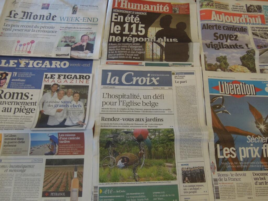 Diários franceses   17/08/2012