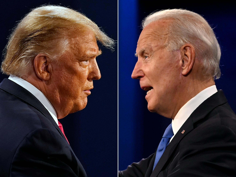 Donald Trump (i) cuestiona la victoria de Joe Biden en las elecciones de EEUU