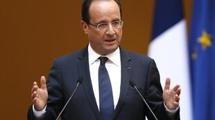Rais wa Ufaransa, François Hollande ambaye chama chake cha Socialist kimeelzwa kunyakua viti vingi vya Ubunge