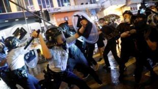 香港8.25示威爆警民冲突2019年5月25日荃湾