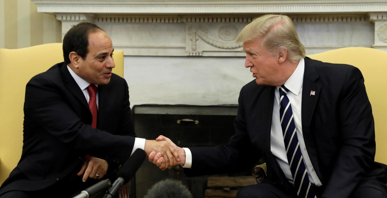 دیدار ترامپ و السیسی در کاخ سفید، روز دوشنبه ۳ آوریل