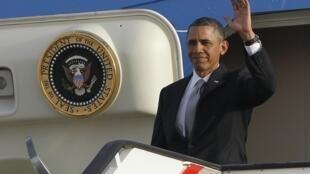 លោកBarack Obama អញ្ជើញទៅដល់ Amman នៃប្រទេស Jordanieថ្ងៃ២២មីនា២០១៣