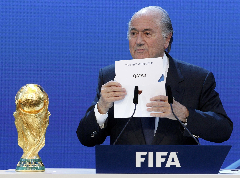 Shugaban FIFA, Joseph Blatter yana bayyana sakamakon zaben