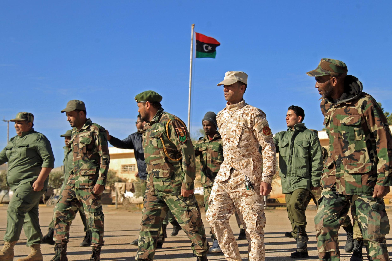 Des troupes du général Haftar.