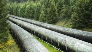 Les oléoducs de Campbell River, en Colombie-Britannique, au Canada.