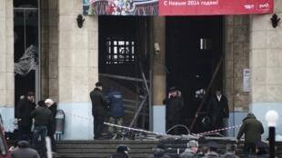 Cửa vào nhà ga Volgograd, Nga, nơi bị đánh bom ngày 29/12/2013
