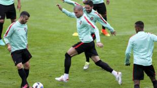 Último treino da Selecção Portuguesa em Marcoussis, no Sul de Paris, antes do jogo de quarta-feira frente à Hungria em Lyon.