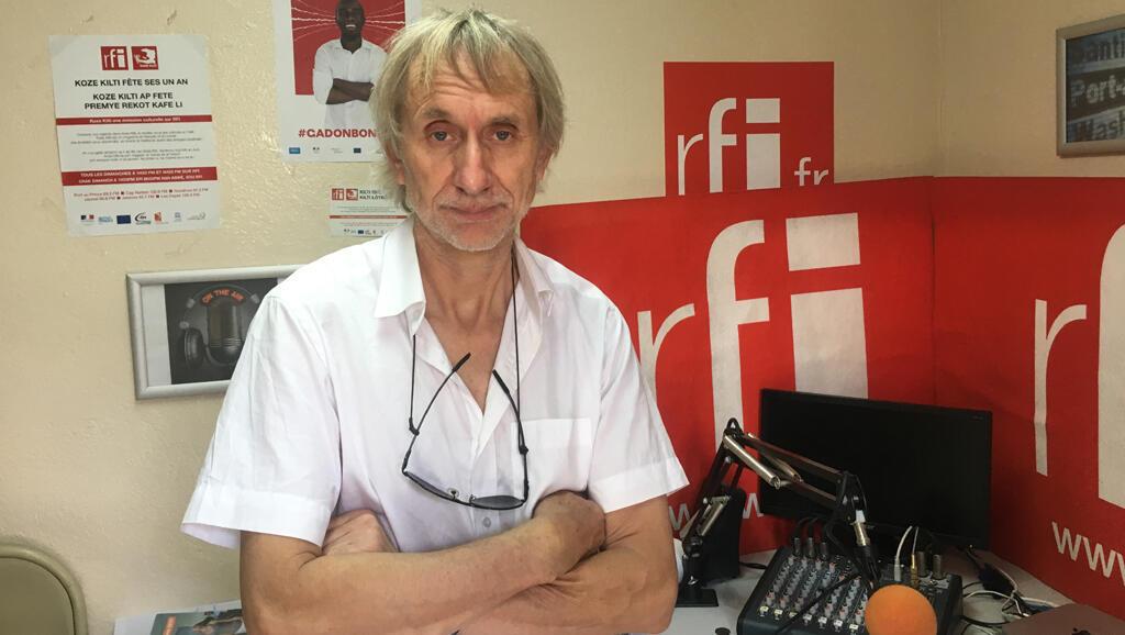 Erik Truffaz au studio de RFI à Port-au-Prince.