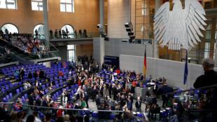 Zauren Majalisar dokokin Jamus a Berlin