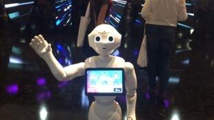O robô Pepper recebe os visitantes na Viva Technology