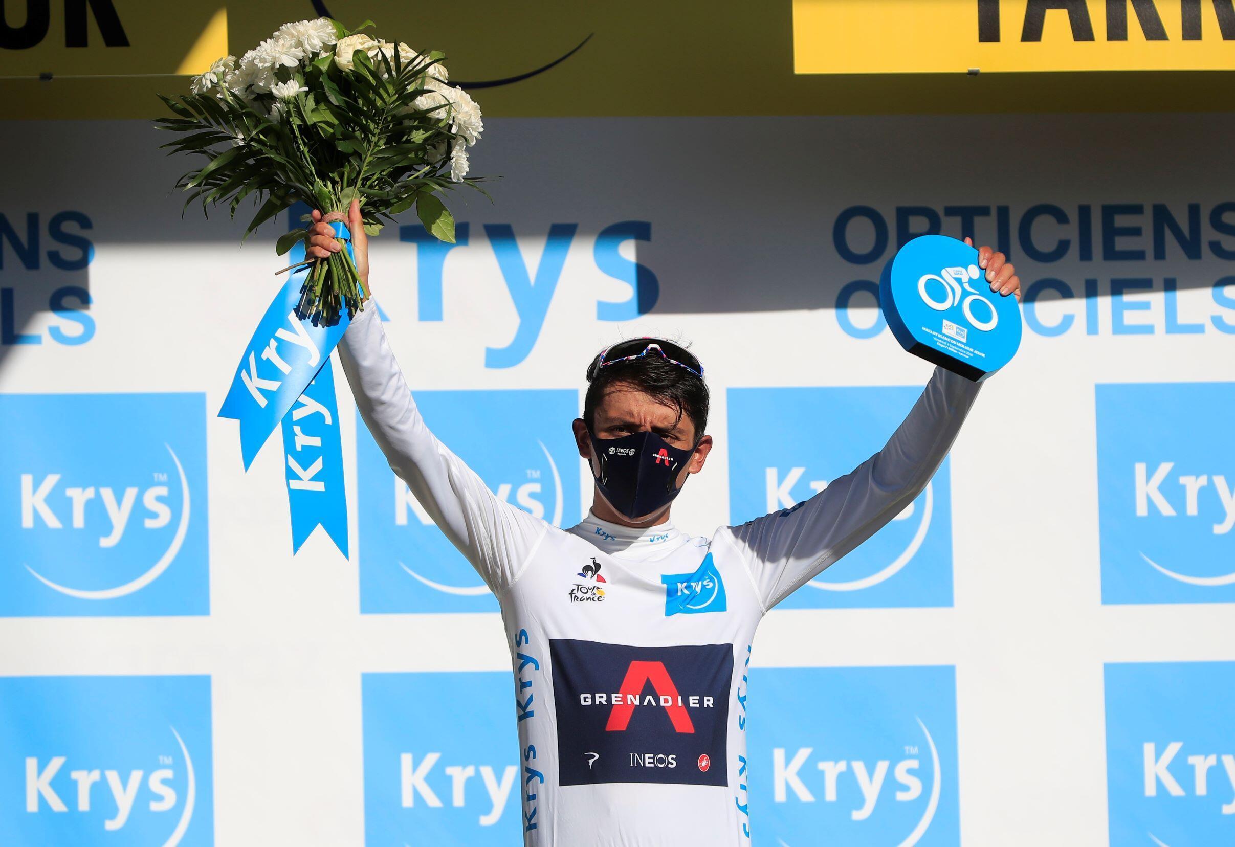 Egan Bernal maillot blanc étape 7